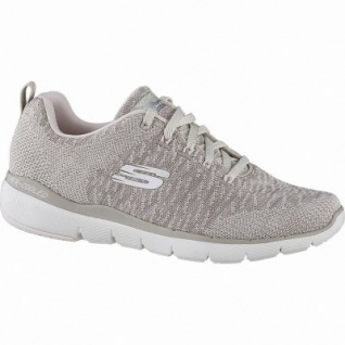 Skechers Flex Appeal 3.0 coole Damen Strick Sneakers nut, Air-Cooled-Memory-Foam-Fußbett, 4142111/36