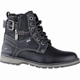 TOM TAILOR Jungen Leder Imitat Winter Tex Boots black, 10 cm Schaft, molliges Warmfutter, warmes Fußbett, 3741156/35