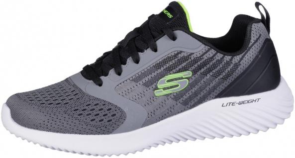 SKECHERS Bounder Herren Mesh Sneakers charcoal grey, Meshfutter, Air Cooled M...