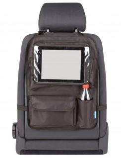 Kombination Universal Auto Rücksitz Tasche + abnehmbarer Tablet Halter, 51x38, 5 cm, Montage an der Kopfstütze