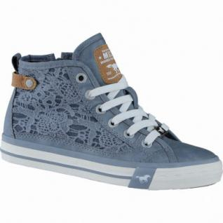 Mustang coole Mädchen Synthetik Macrame Sneakers High sky, Mustang-Laufsohle, 3338116/33