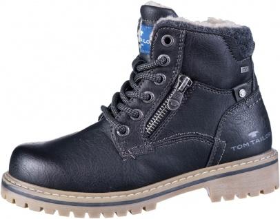TOM TAILOR Jungen Winter Leder Imitat Boots black, Tex Ausstattung, Warmfutter
