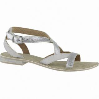 SPM modische Damen Synthetik Sandalen silver, Metallisematerial, weiches Fußbett, 1040152