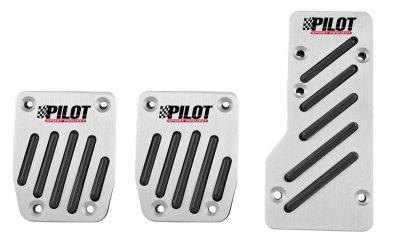 LAMPA RACE 2 Universal PKW, Auto Aluminium Sportpedalen, Fußpedalen Set schwarz, Pedalkappen, Fußstütze
