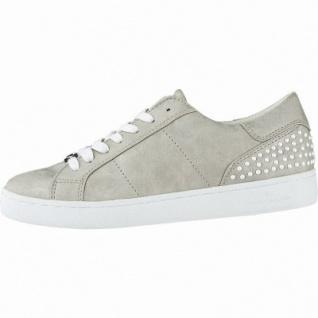 TOM TAILOR coole Damen Leder Imitat Sneakers light gold, gepolsterte Tom-Tailor-Decksohle, 1240181/36