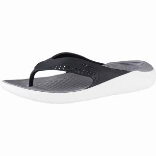 Crocs Lite Ride Flip superweiche + leichte Herren Flips black smoke
