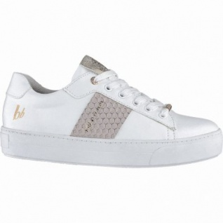 bruno banani coole Damen Synthetik Sneakers white, Plateausohle, weiche Decksohle, 1240162