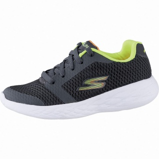 Skechers GO Run 600 coole Jungen Mesh Sneakers charcoal, weiches Skechers Fuß...