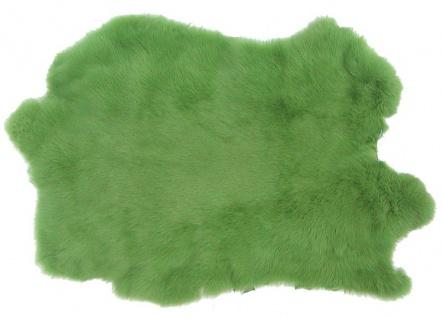 Kaninchenfelle hellgrün gefärbt, ca. 30x30 cm, Felle vom Kaninchen mit seidig...