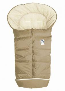 molliger Baby Winter Fleece Fußsack beige-sand, voll waschbar, für Kinderwagen, Buggy, ca. 98x47cm