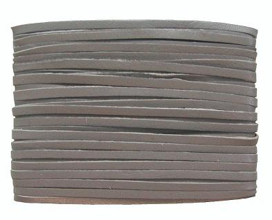 weiches Leder Flechtband Ziegenleder auf Karte dunkelgrau, Länge 10 m, Breite...