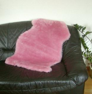 Natur Lammfell pink geschoren, ökologische Gerbung mit Alaun, pflanzlich gefärbt, waschbar, ca. 100 cm