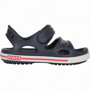 Crocs Crocband II Sandal PS Jungen Crocs Sandalen navy, verstellbarer Klettverschluss, 4338120/23-24