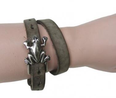 Boom Belts Wechselschließe Frosch silber für Damen, Herren Leder Armbänder mit 1 cm Breite