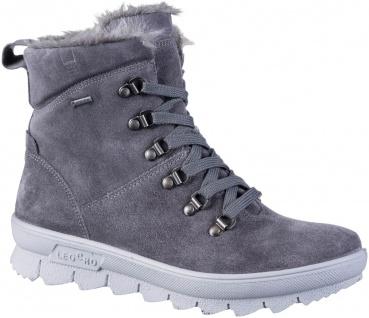 LEGERO Damen Leder Boots fumo, Comfort Weite G, Warmfutter, Tex Ausstattung
