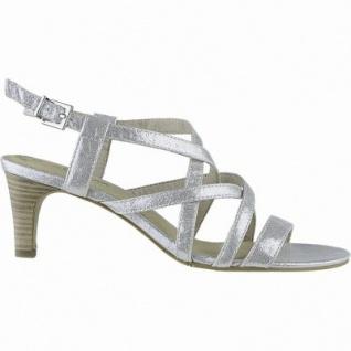 s.Oliver chice Damen Synthetik Sandaletten silver, weiche Soft-Foam-Decksohle, 1440254