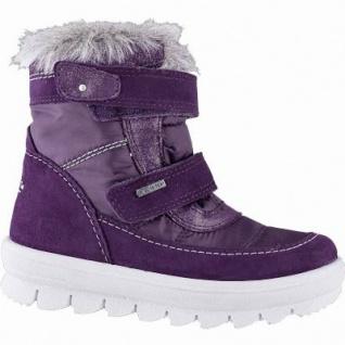 Superfit Mädchen Winter Leder Tex Boots lila, molliges Warmfutter, warmes Fußbett, mittlere Weite, 3741138/33