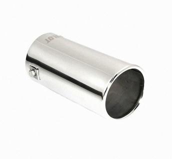 LAMPA TS-02 Universal Edelstahl Auspuff Blende, Endrohr, Ø 35-62 mm, 160x76 m...