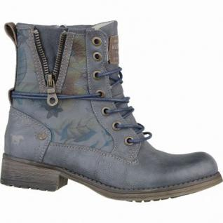 Mustang coole Mädchen Synthetik Winter Boots blaugrau, molliges Warmfutter, warme Decksohle, 3737121
