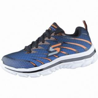 Skechers coole Jungen 3D-Printed-Mesh Sneakers royal blue, Gel-Infused-Memory-Foam-Fußbett, 4238164