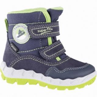 Superfit Jungen Winter Leder Tex Boots blau, mittlere Weite, molliges Warmfutter, warmes Fußbett, 3241107/22