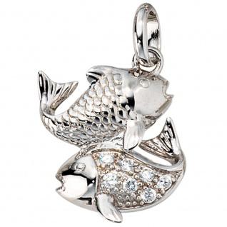 Anhänger Sternzeichen Fische 925 Silber mit Zirkonia Sternzeichenanhänger