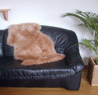 australische Lammfelle camel gefärbt waschbar, Haarlänge ca. 70 mm, ca. 120x78 cm