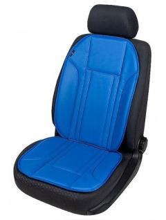 Universal Kunstleder Auto Sitzauflage blau, waschbar, mit und ohne Seitenairbag