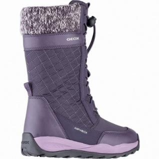 Geox Mädchen Winter Synthetik Amphibiox Stiefel purple, 20 cm Schaft, molliges Warmfutter, Einlegesohle, 3741113/30 - Vorschau 2