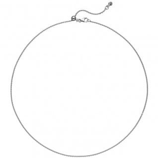 Ankerkette 925 Silber 1 Zirkonia 45 cm Kette Halskette verkürzbar