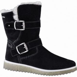 Superfit Mädchen Winter Leder Tex Boots schwarz, 16 cm Schaft, Warmfutter, warmes Fußbett, 3741147