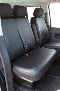 Passform Sitzbezüge VW T6, passgenauer Kunstleder Sitzbezug Doppelbank vorn, ab Bj. 07/2015