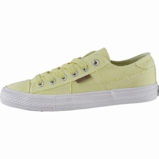 Dockers sportliche Damen Canvas Sneakers gelb, weiches Fußbett, modische Snea...