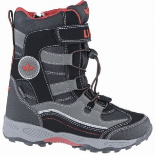 Lico Claron VS coole Jungen Winter Nylon Tex Boots schwarz, Warmfutter, warme Einlegesohle, 4539112/39
