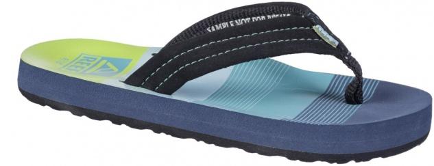 REEF Kids Ahi Jungen Pantoletten aqua, weiches Fußbett, weiche Laufsohle