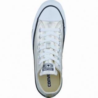 Converse CTAS Canvas Metallic coole Damen Canvas Metallic Sneaker light gold-white-black, Textilfutter, 1237132/36.5 - Vorschau 2