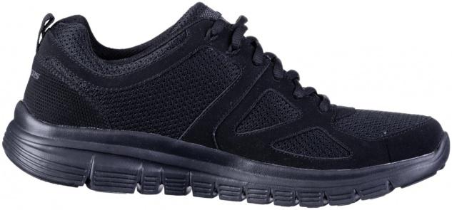 SKECHERS Burns Herren Mesh Sneakers black, Memory Foam Fußbett