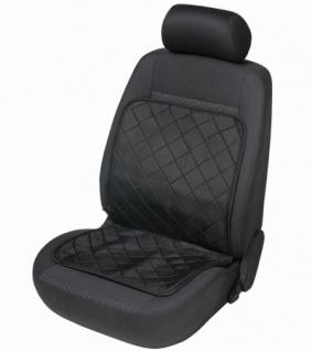 beheizbare Universal Auto Sitzauflage schwarz, Heizfunktion auf Sitzfläche und Rückenlehne