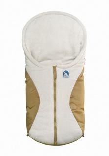 molliger Baby Winter Fleece Fußsack beige, für Tragschalen, Autositze, ca. 79...