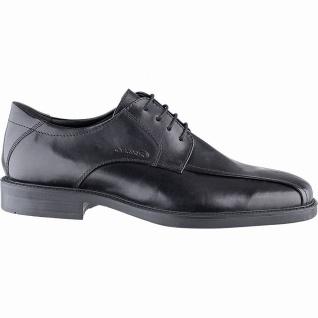 Geox Herren Business Leder Halbschuhe black, chromfrei, weiches Geox Fußbett