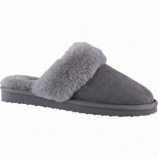 Blackstone Damen Lammfell Hauschuhe, Haus Pantoffeln grey, weiche Decksohle, flexible Laufsohle, 1941114/40