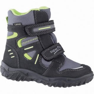 Superfit Jungen Winter Synthetik Tex Boots schwarz, 10 cm Schaft, Warmfutter, warmes Fußbett, 3741139/34