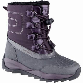 Geox Mädchen Winter Synthetik Amphibiox Boots burgundy, molliges Warmfutter, Thermo Fußbett, 4539120/30