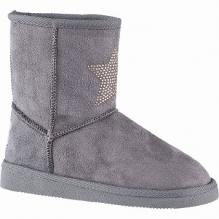 Canadians coole Mädchen Winter Synthetik Boots grey, 15 cm Schaft, molliges Warmfutter, warmes Fußbett, 3741189