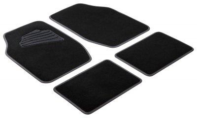 Komplett Set Universal Auto Fußraum Matten Matrix grau 4-teilig, Anti Slip, rutschfest, Autoteppiche, Auto Fußmatten