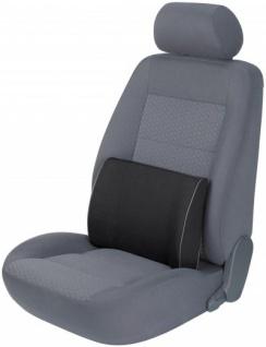 ergonomisches Baumwoll Auto Rückenstütz Kissen schwarz 30x40 cm, entlastet Rücken+Wirbelsäule, 30 Grad waschbar