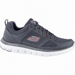 Skechers Flex Advantage 2.0 coole Herren Mesh Sneakers charcoal, Skechers Air Cooled Memory Foam-Fußbett, 4240163