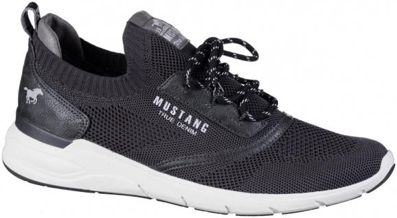 MUSTANG Herren Sneakers graphit, Strickmaterial, herausnehmbare Decksohle