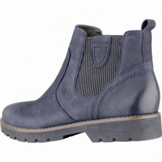 timeless design 0d960 fbe4c Jana modische Damen Leder Boots blau, Extra Weite H, Microfutter, Jana  Lederfußbett, 1739132/36