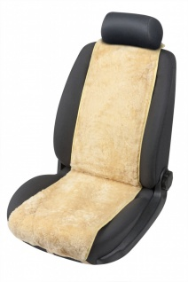 weiche Universal Lammfell Autositz Auflage Cosmo beige, kühlt im Sommer, wärm...